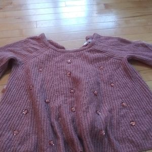 Pink sweater w/embellishments